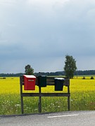 Postboxes Prints - Swedish Summer Print by Margareth Osju