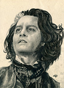 Parchment Drawings Prints - Sweeney Todd Print by Bianca Ferrando