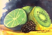 Kiwi Painting Prints - Sweet and Sour Print by Terri Thompson
