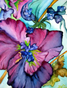 Blooming Paintings - Sweet and Wild in Turquoise and Pink by Lil Taylor