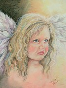Angelic Pastels Prints - Sweet Angel Of Inocense Print by Sandra Valentini