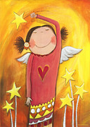 Crafts For Kids Prints - Sweet Angel Print by Sonja Mengkowski