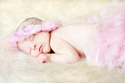 Flower Pink Fairy Child Photos - Sweet Baby Girl by Darren Fisher