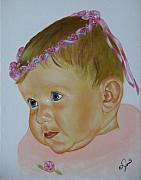 Portrait Paintings - Sweet Child by Joni McPherson