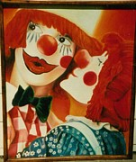 Smooch Prints - Sweet Clowns Print by Geri Jones