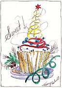 Christmas Notecard Originals - Sweet Cupcake by Michele Hollister - for Nancy Asbell