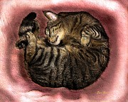 Felines Dale Ford Prints - Sweet Dreams 2 Print by Dale   Ford