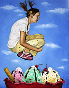 Ice-cream Paintings - Sweet Dreams by Leah Saulnier The Painting Maniac