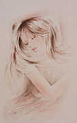Feminine Drawings Originals - Sweet Dreams by Rachel Christine Nowicki