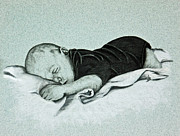 Blanket Drawings Prints - Sweet Innocence Print by Terri Mills