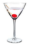 Maraschino Prints - Sweet martini isolated Print by Richard Thomas