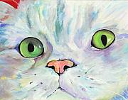 Kitty Painting Posters - Sweet Puss Poster by Pat Saunders-White
