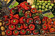 Baskets Digital Art Posters - Sweet Red Peppers Poster by Mary Machare