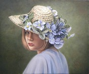 Portraits Paintings - Sweet Sarah by Jan Way