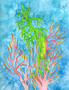 Watercolor Paintings - Sweet Sea Dragon by Debi Hammond