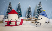 Anthropomorphism Photo Prints - Sweet Sleigh Ride Print by Heather Applegate