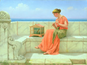 Canary Paintings - Sweet Sounds by John William Godward