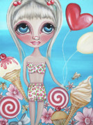 Ice-cream Paintings - Sweet Summer by Jaz Higgins