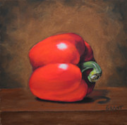 Red Pepper Pastels - Sweet Sweet Pepper by Joanne Grant