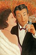 Art Deco Painting Originals - Sweet Talk by Susan Rinehart