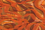 Tangerine Posters - Sweet Tangerine Abstract Poster by Michelle Lee