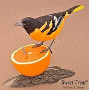Oriole Sculptures - Sweet Treat by Marc  Barger