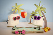Marshmellow Prints - Sweet Vacation Print by Heather Applegate