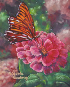Fauna Pastels Metal Prints - Sweet Visitation Metal Print by Debbie Harding