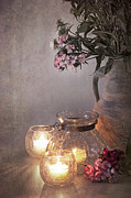 Candlelight Prints - Sweet Williams faded. Print by Jane Rix