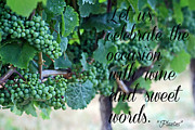 Wine Bottle Wall Art Photos - Sweet Words by Cyryn Fyrcyd
