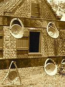 Sweetgrass Baskets And Slave Shack Print by Staci-Jill Burnley