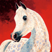 Arabian Horse Paintings - Sweetheart by Bob Coonts