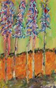 Trees Pastels Originals - Sweetheart Hill by Pat Saunders-White