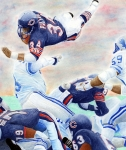 Chicago Bears Framed Prints - Sweetness Over the Top Framed Print by Lyle Brown