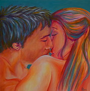 Young Love Painting Originals - Swept Away by Debra Bucci
