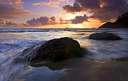 Sunset Seascape Framed Prints - Swept Away Framed Print by Mike  Dawson
