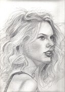 Taylor Swift Drawings - Swift by Denis Richard