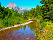 Montana Digital Art - Swiftcurrent Creek in Glacier NP in Montana by Ruth Hager