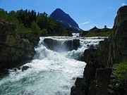Swiftcurrent Falls Prints - Swiftcurrent Falls - Glacier National Park Montana Print by Photography Moments - Sandi