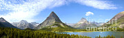 Featured Art - Swiftcurrent Lake And Valley by Gregory G. Dimijian, M.D.