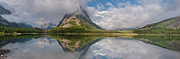 Many Glacier Framed Prints - Swiftcurrent Lake Panorama Framed Print by Greg Nyquist