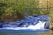 Susan Leggett Prints - Swiftly Flowing River Print by Susan Leggett