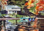 Lakehouse Framed Prints - Swim Float Framed Print by Edith Hunsberger