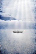 Light Rays Photo Prints - Swim Platform Print by Joana Kruse