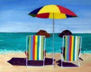 Beach Chairs Prints - Swim Print by Roger Wedegis