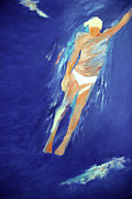 Free Form Paintings - Swimmer Ascending by Lisa Baack