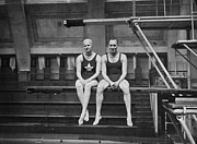 Mid Adult Women Photo Posters - Swimming Courtship Poster by A Hudson