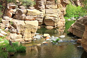 Slide Rock Posters - Swimming Hole at Slide Rock Poster by Carol Groenen