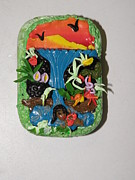 Swim Sculptures - Swimming in Paradise Tin by Megan Brandl