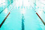 Indoor Sport Posters - Swimming Pool Lane Poster by Skip Nall